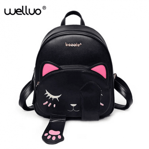 "Sac à dos chat trop kawaii ""ShyCat"" Chat timide [tag]"