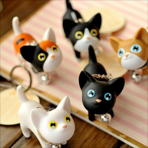 Porte-clés mignons chats [tag]