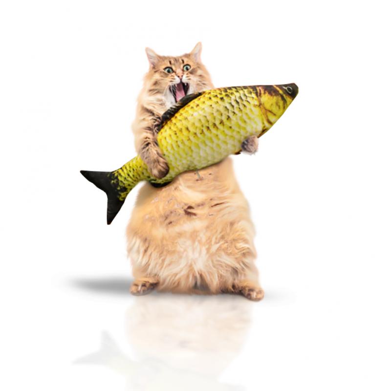 "Jouet Poisson pour chat ""Big KittyFish"" à l'herbe à chat XL Peluche pour chat"