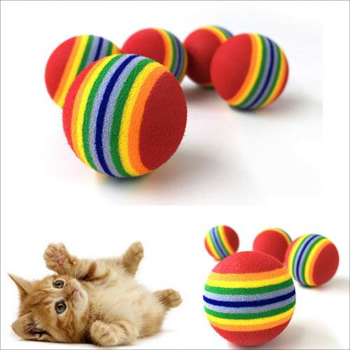 "10 Balles ""Rainbow"" multicolore [tag]"