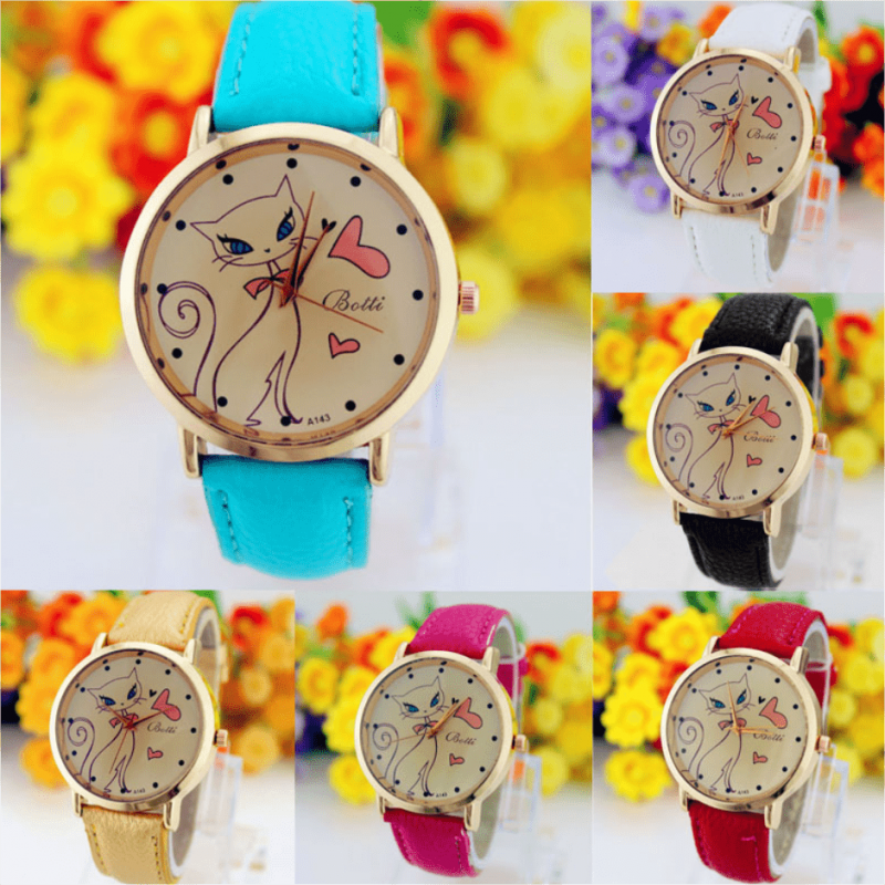 """Montre femme """"Cat In Love"""" [tag]"""